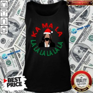 Kamala Momala Kamala Harris Mask Christmas Tank-Top- Design by Waretees.com