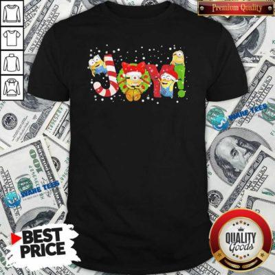 Premium Minions Joy Christmas Shirt - Design by Waretees.com