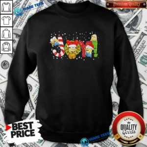 Premium Minions Joy Christmas Sweatshirt - Design by Waretees.com