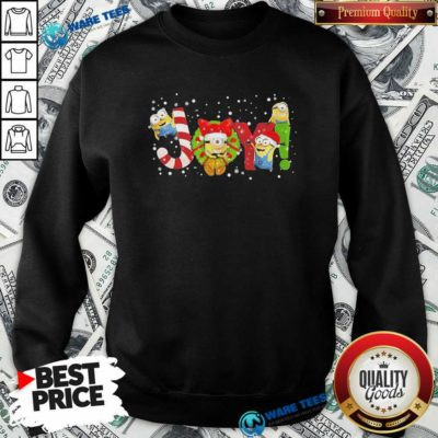 Premium Minions Joy Christmas Sweatshirt - Design by Waretees.com