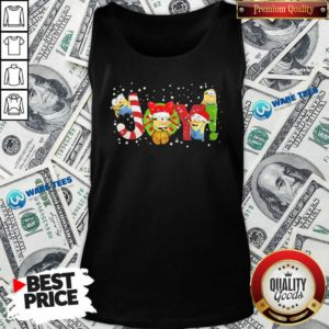 Premium Minions Joy Christmas Tank Top - Design by Waretees.com