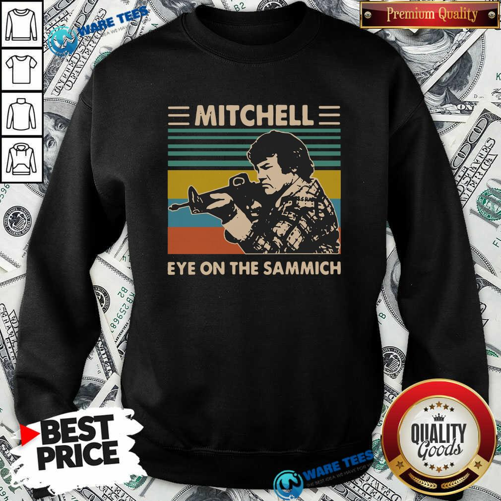 Mitchell Eye On The Sammich Vintage Sweatshirt- Design by Waretees.com