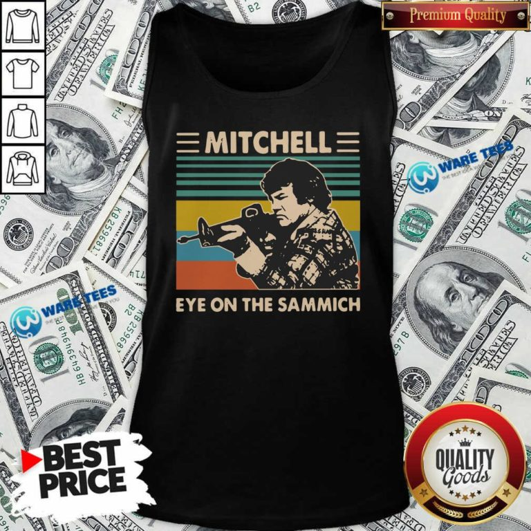 Mitchell Eye On The Sammich Vintage Tank-Top- Design by Waretees.com