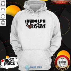 Premium Rudolph The Red Nosed Bastard Hoodie - Design by Waretees.com