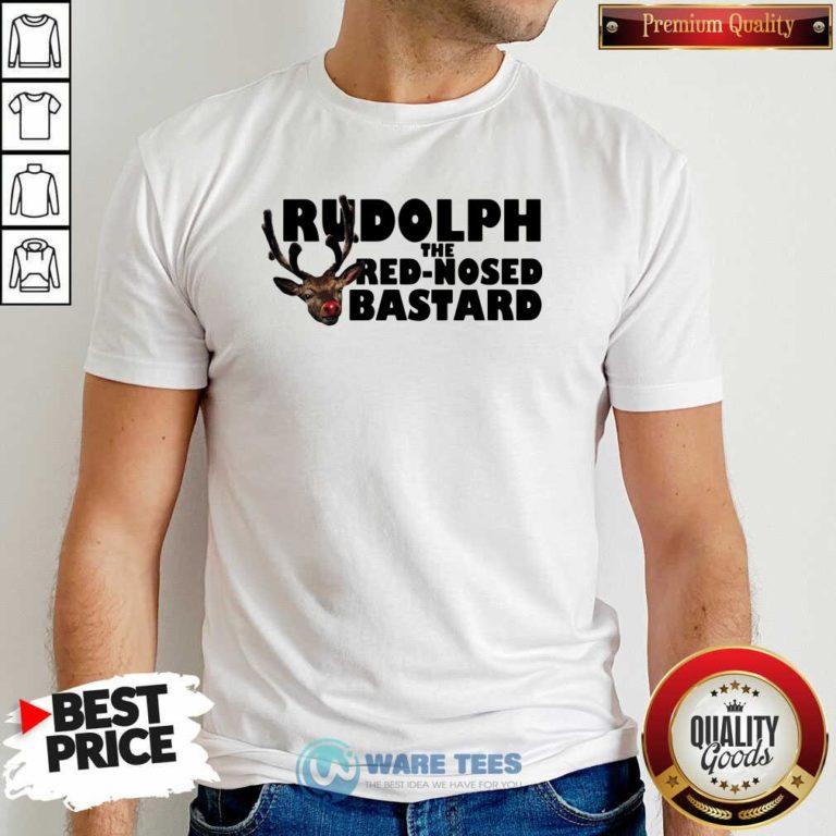 Premium Rudolph The Red Nosed Bastard Shirt - Design by Waretees.com
