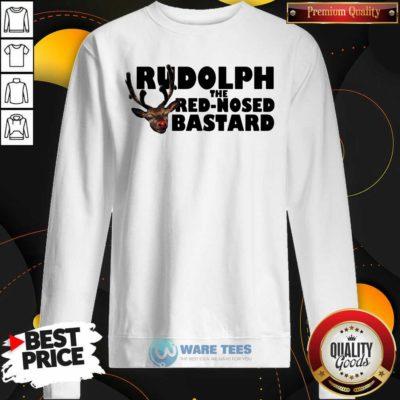 Premium Rudolph The Red Nosed Bastard Sweatshirt - Design by Waretees.com