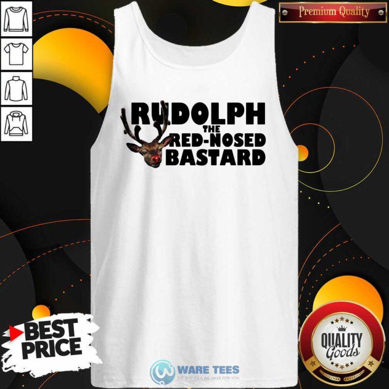 Premium Rudolph The Red Nosed Bastard Tank Top - Design by Waretees.com