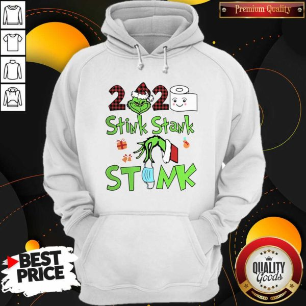 Premium The Grinch 2020 Stink Stank Stunk Mask Christmas Hoodie - Design by Waretees.com