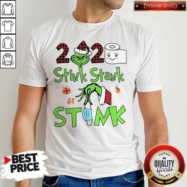 Premium The Grinch 2020 Stink Stank Stunk Mask Christmas Shirt - Design by Waretees.com