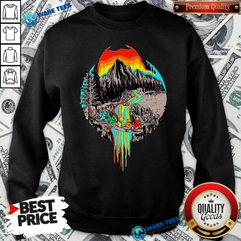 Premium Volcanoes Overflowing Dancing Bear Grateful Dead Sweatshirt - Design by Waretees.com