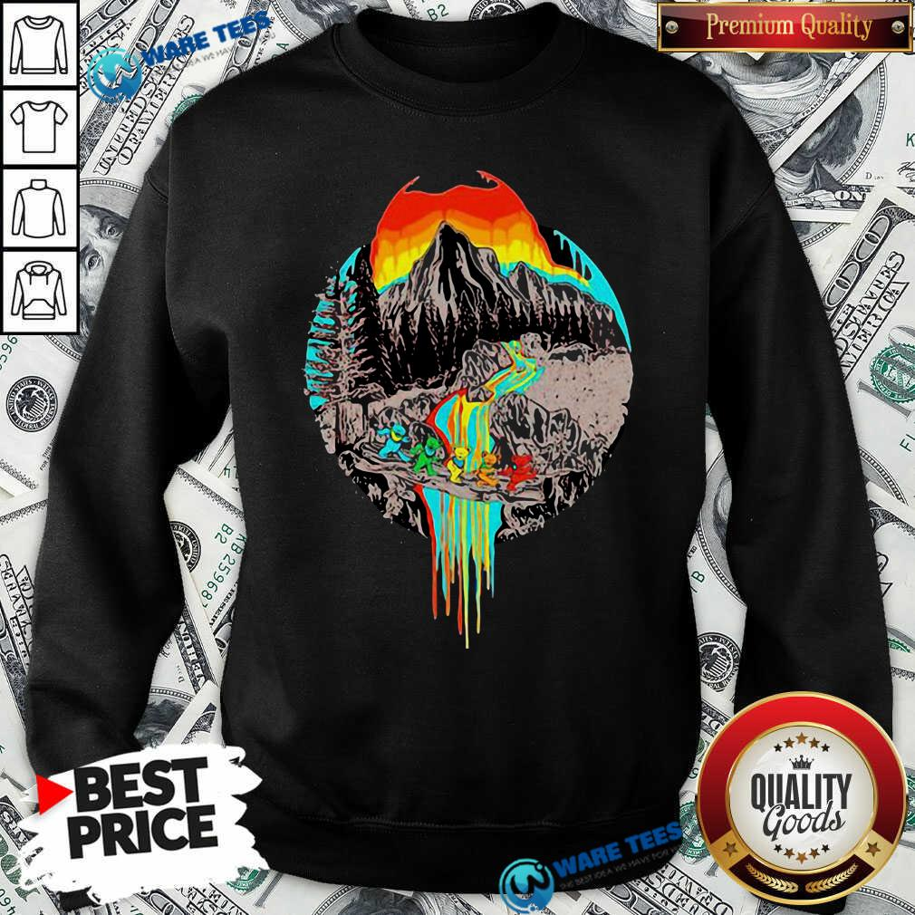 Premium Volcanoes Overflowing Dancing Bear Grateful Dead Sweatshirt - Design by Waretees.com