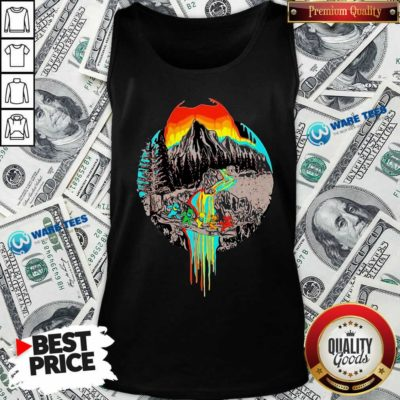 Premium Volcanoes Overflowing Dancing Bear Grateful Dead Tank Top - Design by Waretees.com