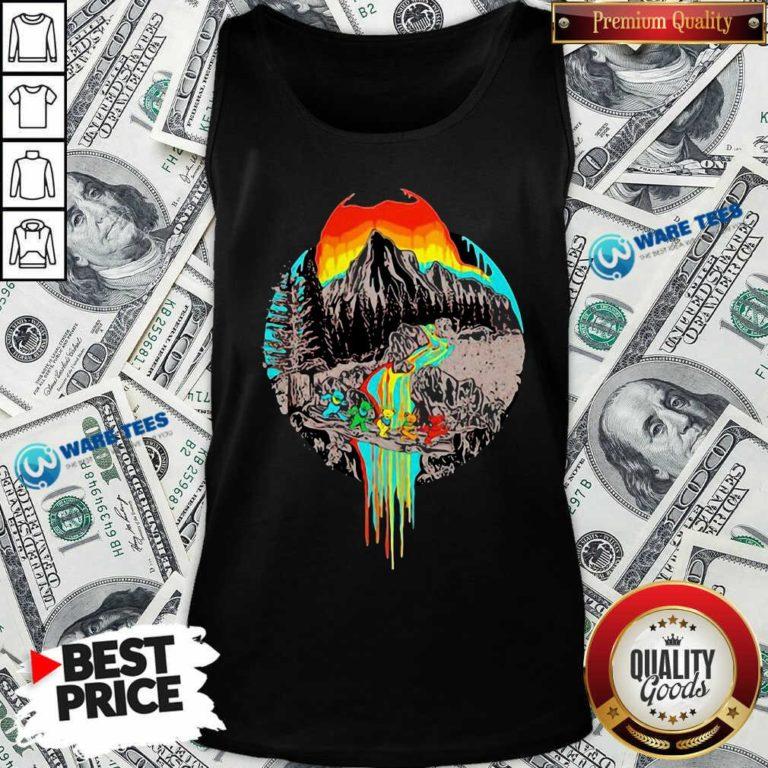 Premium Volcanoes Overflowing Dancing Bear Grateful Dead Tank Top - Design by Waretees.com