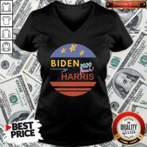 Pretty Biden 2020 Frink Harris Vintage V-neck - Design by Waretees.com