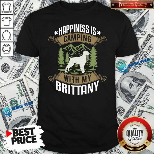 Camping With Brittany Camp Camping And Dogs Shirt- Design by Waretees.com