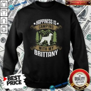 Camping With Brittany Camp Camping And Dogs Sweatshirt- Design by Waretees.com