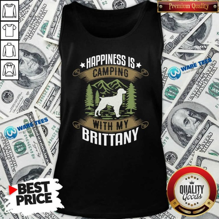 Camping With Brittany Camp Camping And Dogs Tank-Top- Design by Waretees.com