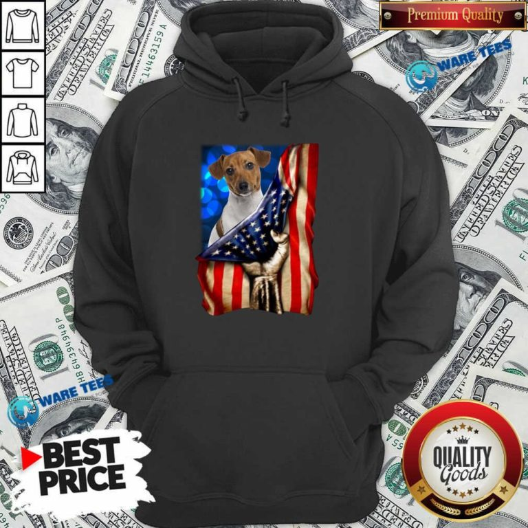 Jack Russell Terrier America 4th Of July Independence Day Hoodie- Design by Waretees.com