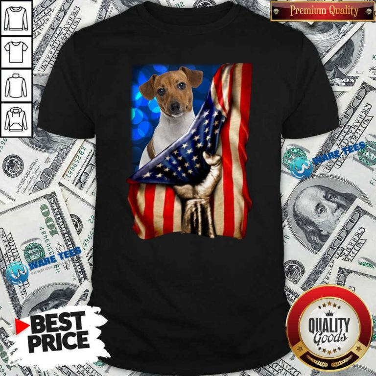 Jack Russell Terrier America 4th Of July Independence Day Shirt- Design by Waretees.com