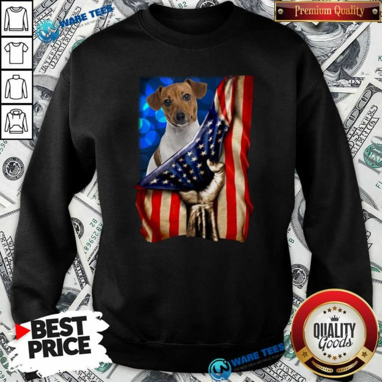 Jack Russell Terrier America 4th Of July Independence Day Sweatshirt- Design by Waretees.com