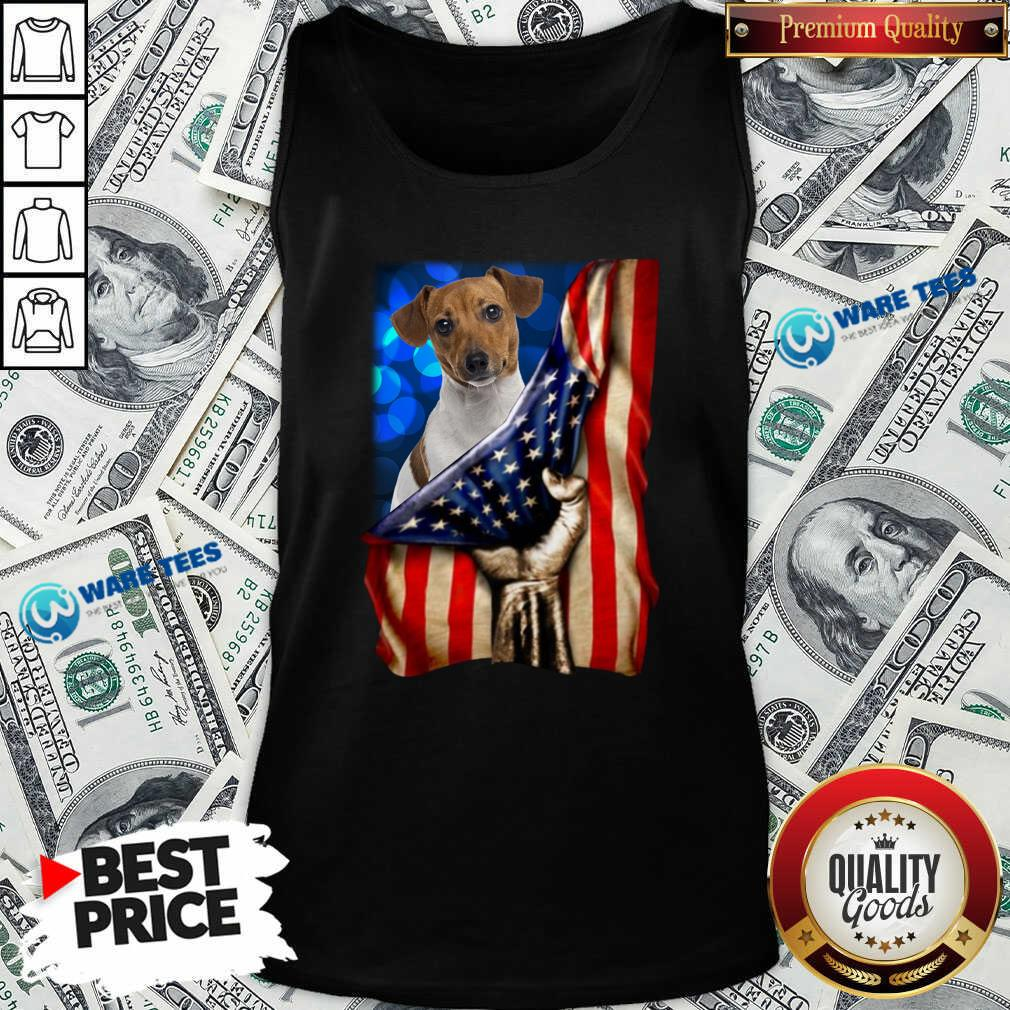 Jack Russell Terrier America 4th Of July Independence Day Tank-Top- Design by Waretees.com