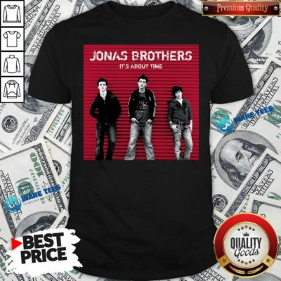 Jonas Brothers It's About Time Shirt- Design by Waretees.com
