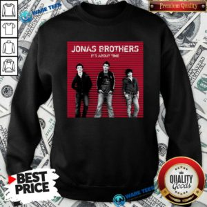Jonas Brothers It's About Time Sweatshirt- Design by Waretees.com
