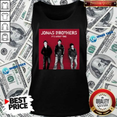Jonas Brothers It's About Time Tank-Top- Design by Waretees.com