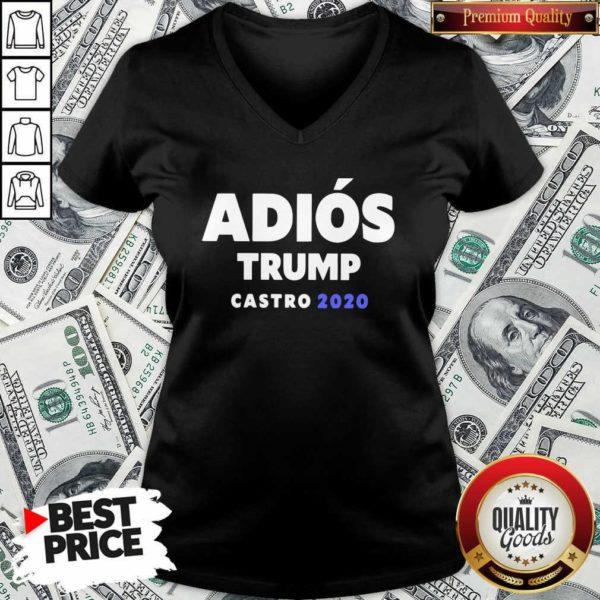 Top Adios Trump Castro 2020 V-neck - Design by Waretees.com