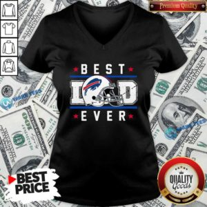 Buffalo Bills Best Dad Ever Father's Day V-neck- Design by Waretees.com