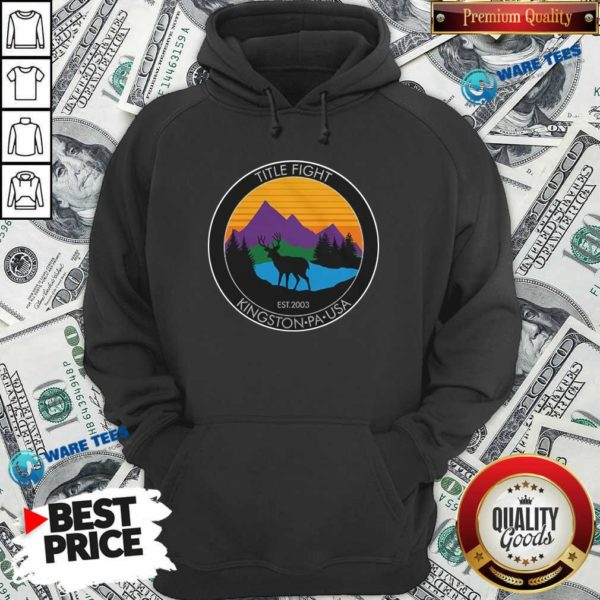Cold Cuts Merch Title Fight Deer Hoodie- Design by Waretees.com