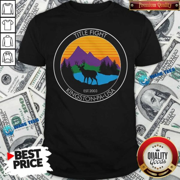 Cold Cuts Merch Title Fight Deer Shirt- Design by Waretees.com