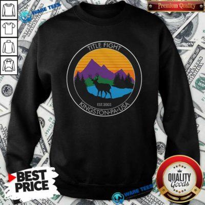 Cold Cuts Merch Title Fight Deer Sweatshirt- Design by Waretees.com