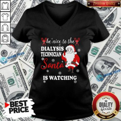 Top Dialysis Technician V-neck - Design by Waretees.com