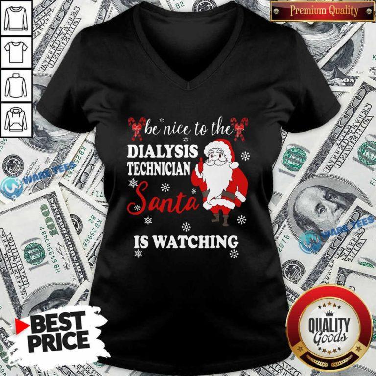 Top Dialysis Technician V-neck - Design by Waretees.com