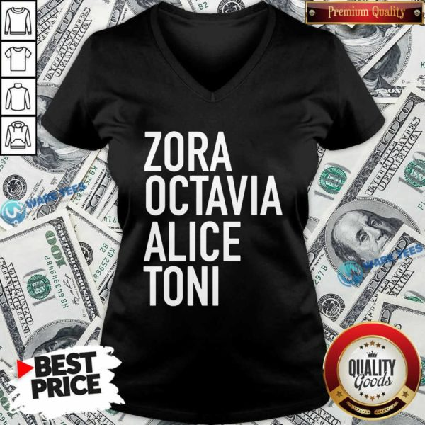 Harrietts Bookshop Zora Octavia Alice Toni V-neck- Design By Waretees.com