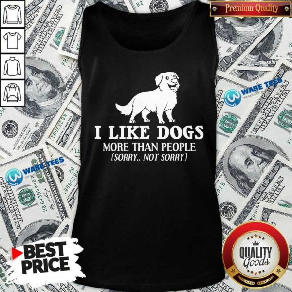 Top I Like Dogs More Than People Bernese Mountain Puppies Tank Top - Design by Waretees.com