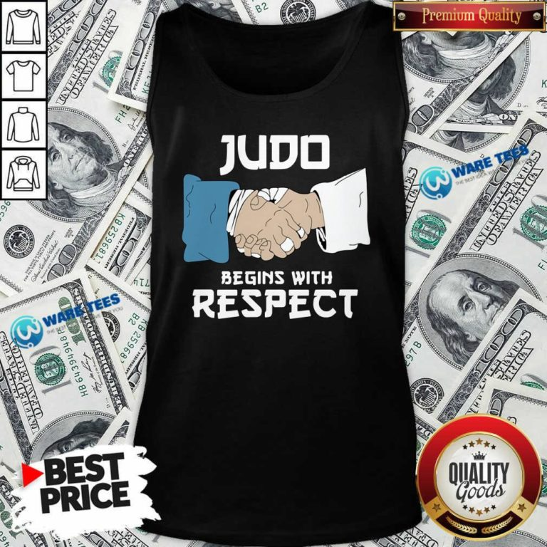 Judo Begins With Respect Tank-Top- Design By Waretees.com