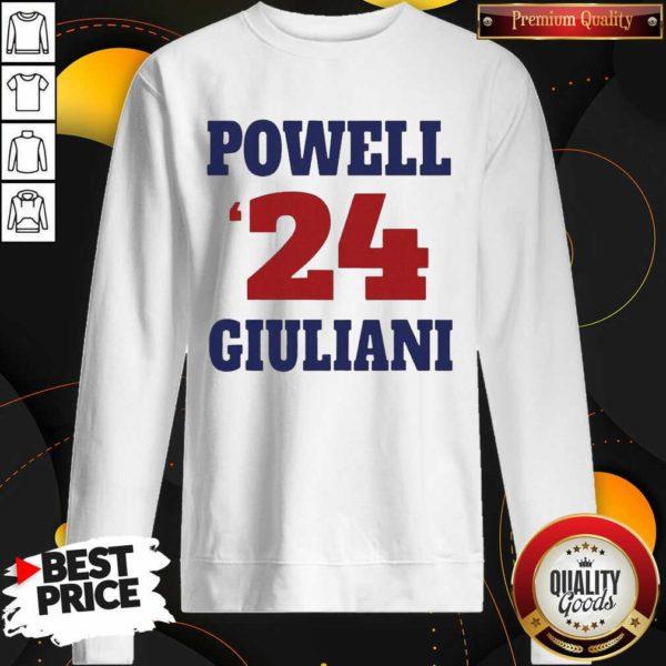 Top Powell 24 Giuliani Sweatshirt - Design by Waretees.com