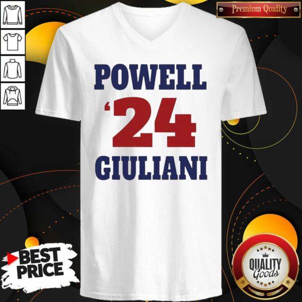 Top Powell 24 Giuliani V-neck - Design by Waretees.com