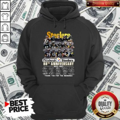 Top Steelers Pottsburgh 88th Anniversary 1933-2021 Thank You For The Memories Hoodie - Design by Waretees.com
