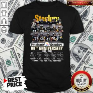 Top Steelers Pottsburgh 88th Anniversary 1933-2021 Thank You For The Memories Shirt - Design by Waretees.com