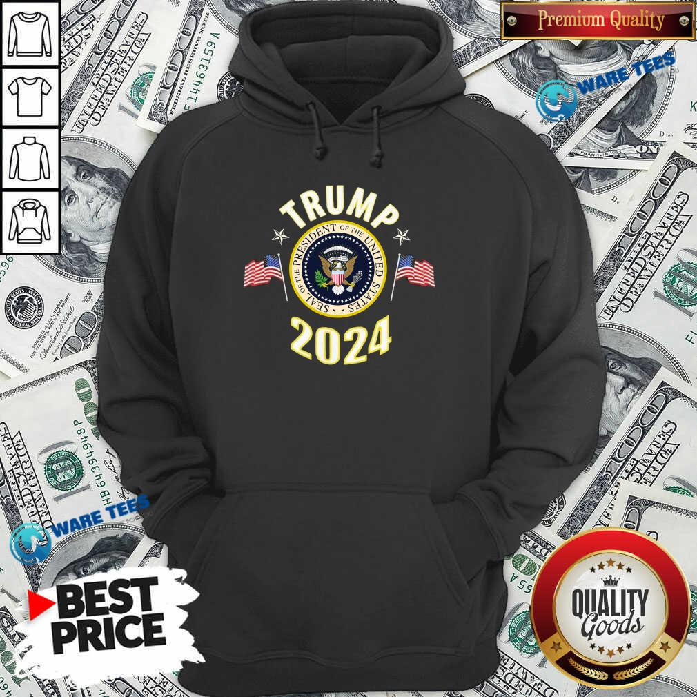 Top Trump 2024 Presidential Seal Flag Hoodie - Design by Waretees.com