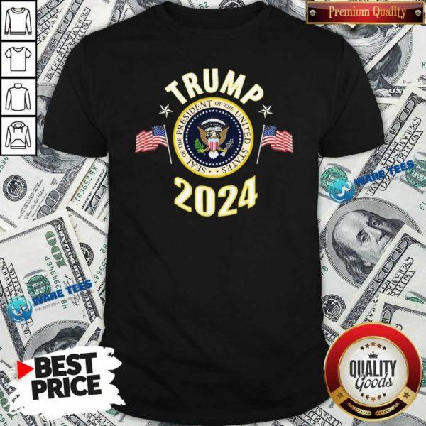 Top Trump 2024 Presidential Seal Flag Shirt - Design by Waretees.com