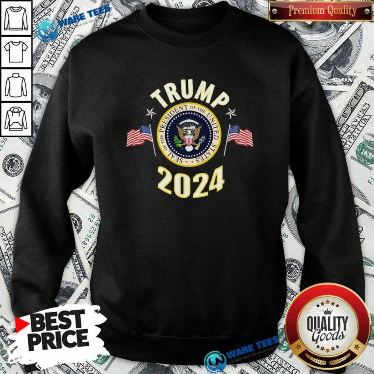 Top Trump 2024 Presidential Seal Flag Sweatshirt - Design by Waretees.com