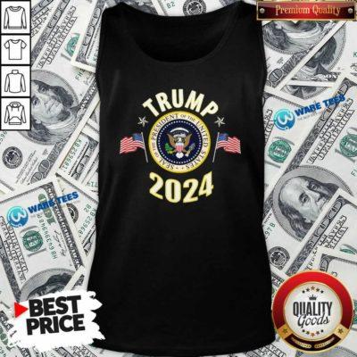 Top Trump 2024 Presidential Seal Flag Tank Top - Design by Waretees.com