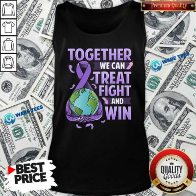 We Can Treat Together Fight And Win World Cancer Day Cancer Awareness Fight Against Cancer Tank Top - Design by Waretees.com