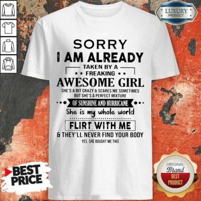 Appalled 1 I Am Already Awesome Girl Shirt