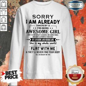 Appalled 1 I Am Already Awesome Girl Sweatshirt