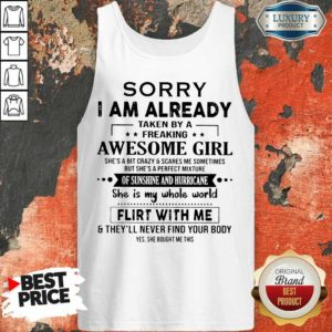 Appalled 1 I Am Already Awesome Girl Tank Top